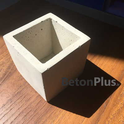گلدان مربع ساده