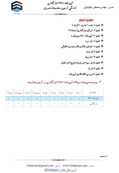 جزوه چاپی آزمون محاسبات عمران | دوره بارگذاری و 2800