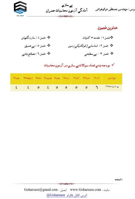 جزوه چاپی آزمون محاسبات عمران | دوره پی
